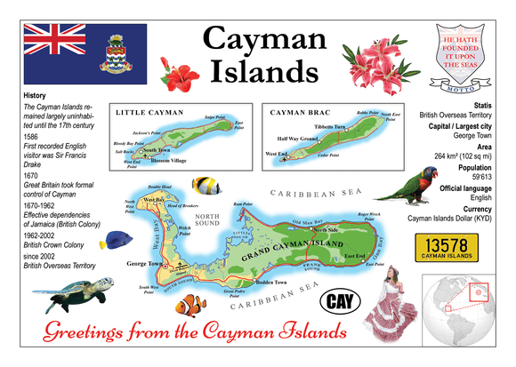 North America | Cayman Islands MOTW - top quality approved by www.postcardsmarket.com specialists
