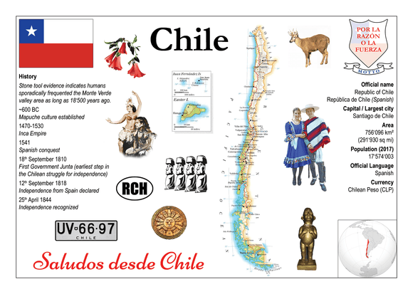 South America | Chile MOTW - top quality approved by www.postcardsmarket.com specialists