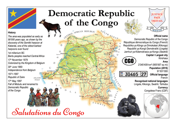AFRICA | Congo R.D. MOTW - top quality approved by www.postcardsmarket.com specialists