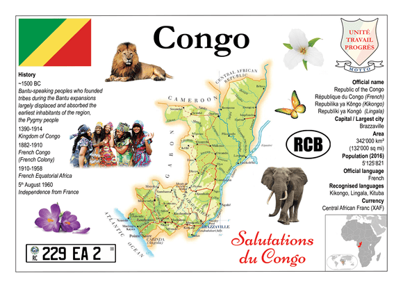 Congo Republic MOTW - Postcards Market