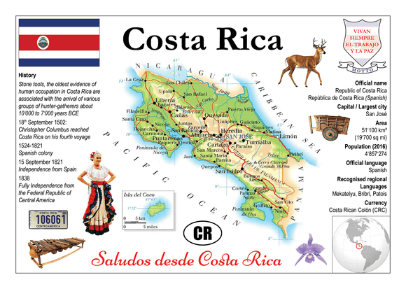 North America | Costa Rica MOTW - top quality approved by www.postcardsmarket.com specialists