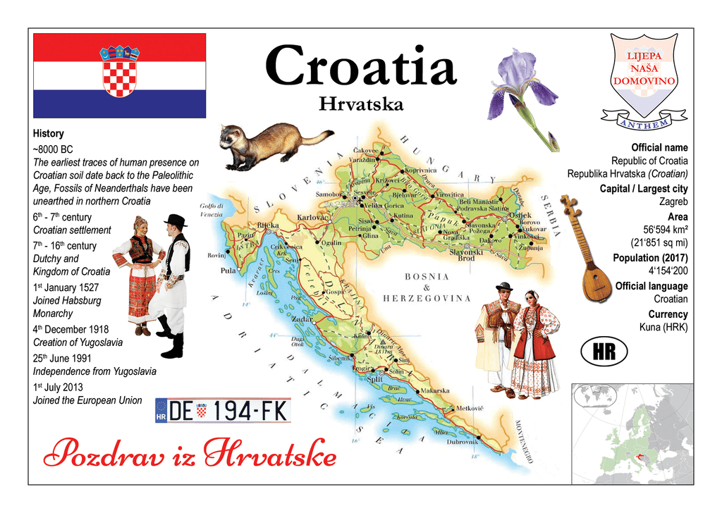 Europe | Croatia MOTW - top quality approved by www.postcardsmarket.com specialists