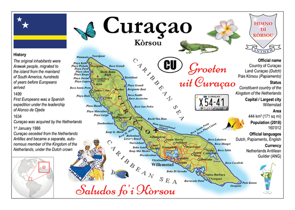 South America | Curacao MOTW - top quality approved by www.postcardsmarket.com specialists