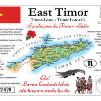 Asia | East Timor MOTW - Timor-Leste - top quality approved by www.postcardsmarket.com specialists