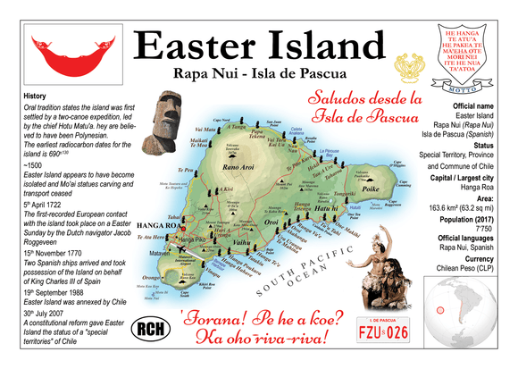 South America | Easter Island MOTW - top quality approved by www.postcardsmarket.com specialists