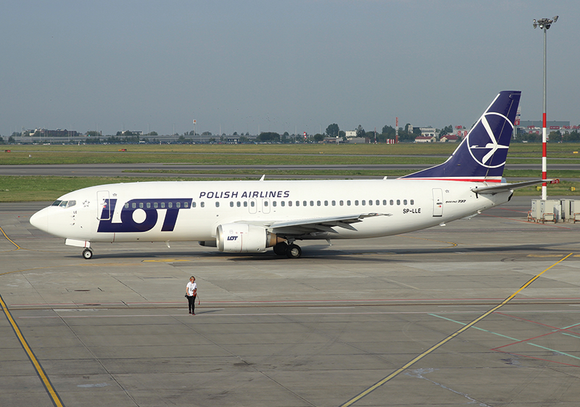 Photo Transport: Boeing 737-400 LOT Polish Airlines WAW - Postcards Market