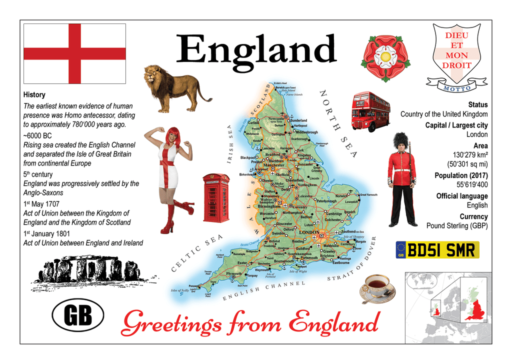 Europe | England MOTW - top quality approved by www.postcardsmarket.com specialists