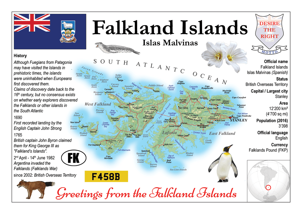 Falkland Islands MOTW - top quality approved by www.postcardsmarket.com specialists