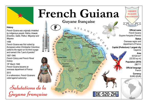 South America | French Guiana MOTW - top quality approved by www.postcardsmarket.com specialists