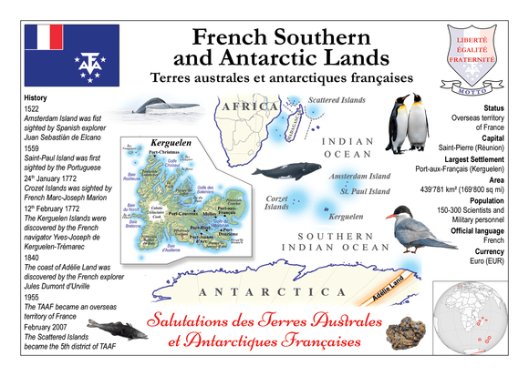 French Southern & Antarctic Lands | TAAF - MOTW - Postcards Market