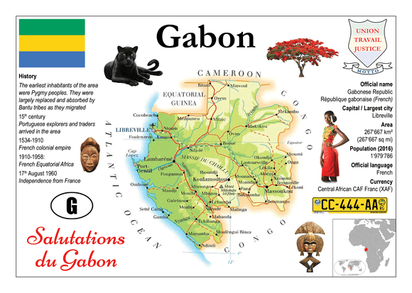 AFRICA | Gabon MOTW - top quality approved by www.postcardsmarket.com specialists