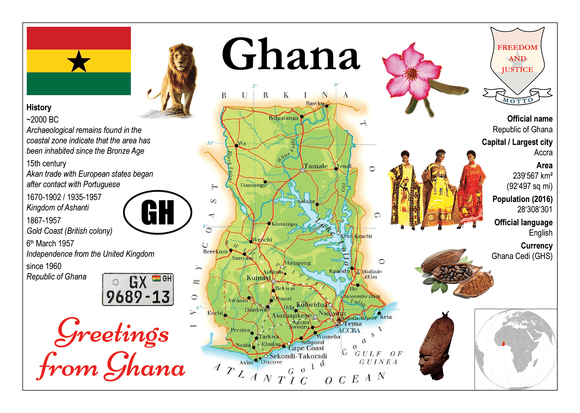 AFRICA | Ghana MOTW - top quality approved by www.postcardsmarket.com specialists