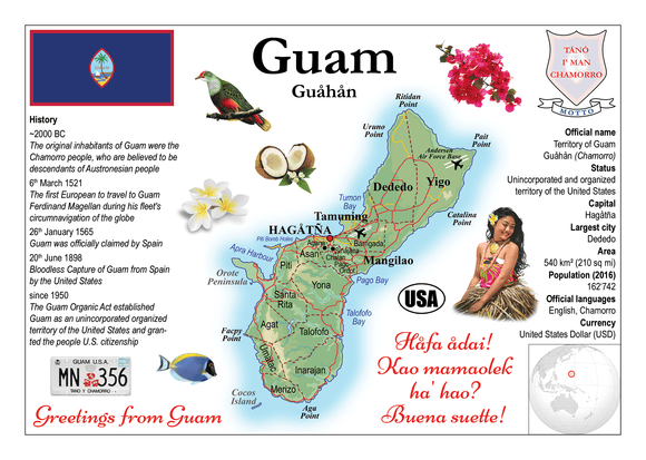 Oceania | Guam MOTW - top quality approved by www.postcardsmarket.com specialists