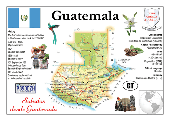 North America | Guatemala MOTW - top quality approved by www.postcardsmarket.com specialists