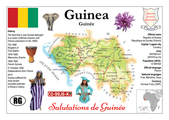 AFRICA | Guinea MOTW - top quality approved by www.postcardsmarket.com specialists