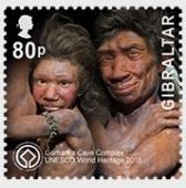 @2016 UNESCO Gorham's Cave Complex one stamp of 0.8 Pounds- Gibraltar stamps - www.postcardsmarket.com