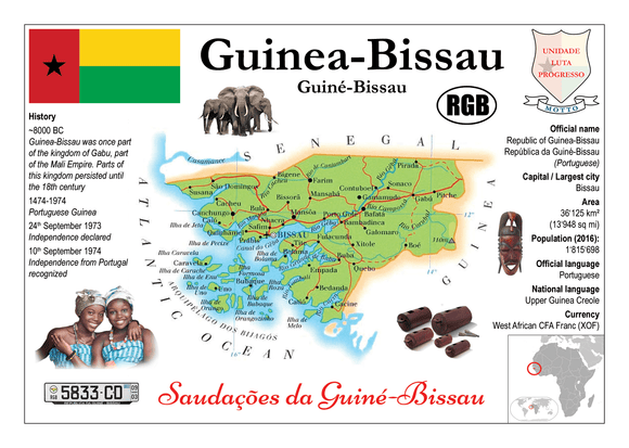 AFRICA | Guinea-Bissau MOTW - top quality approved by www.postcardsmarket.com specialists