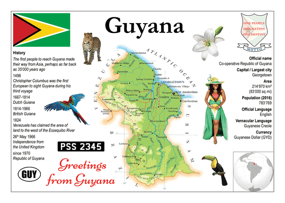 South America | Guyana MOTW - top quality approved by www.postcardsmarket.com specialists