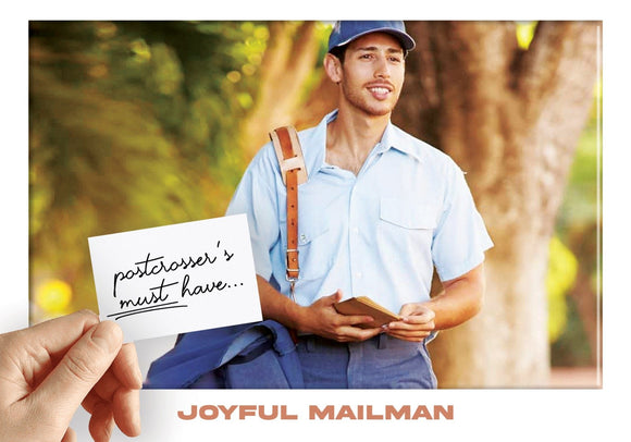Photo: Postcrosser's Must Have - Joyful Mailman (bundle x 5 pieces) - top quality approved by www.postcardsmarket.com specialists