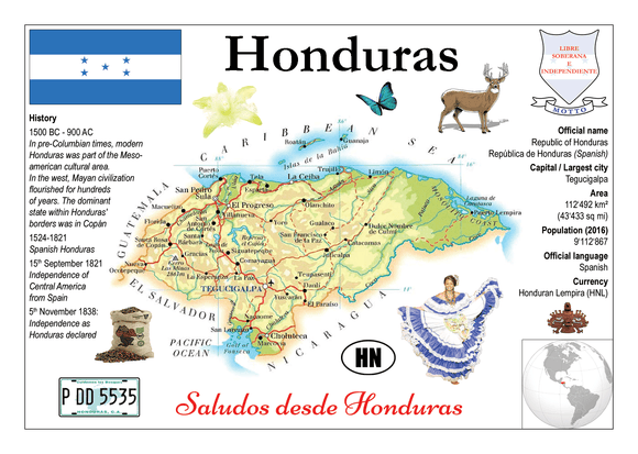 North America | Honduras MOTW - top quality approved by www.postcardsmarket.com specialists