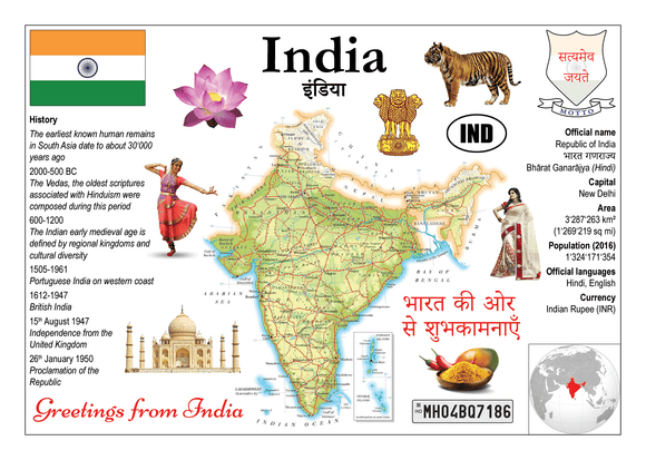 Asia | India MOTW - top quality approved by www.postcardsmarket.com specialists