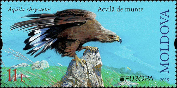 EUROPA 2019: NATIONAL BIRDS - MOLDOVA  (set of 2 stamps) - www.postcardsmarket.com