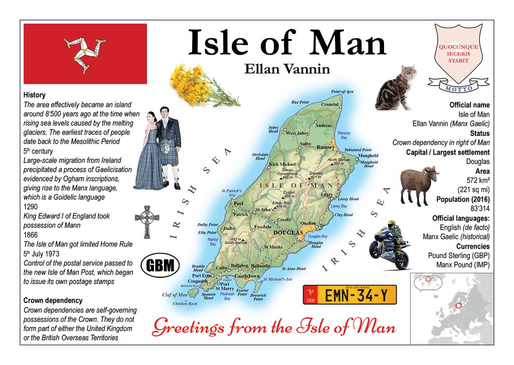 Isle of Man MOTW - Postcards Market