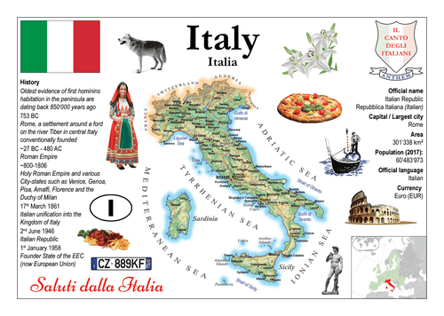 Europe | Italy MOTW - top quality approved by www.postcardsmarket.com specialists