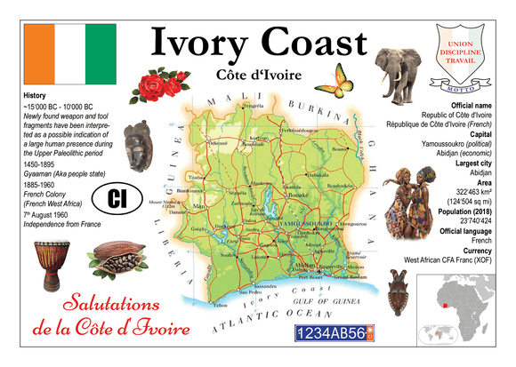 AFRICA | Ivory Coast MOTW - top quality approved by www.postcardsmarket.com specialists