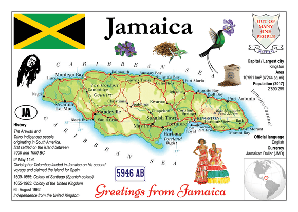 North America | Jamaica MOTW - top quality approved by www.postcardsmarket.com specialists