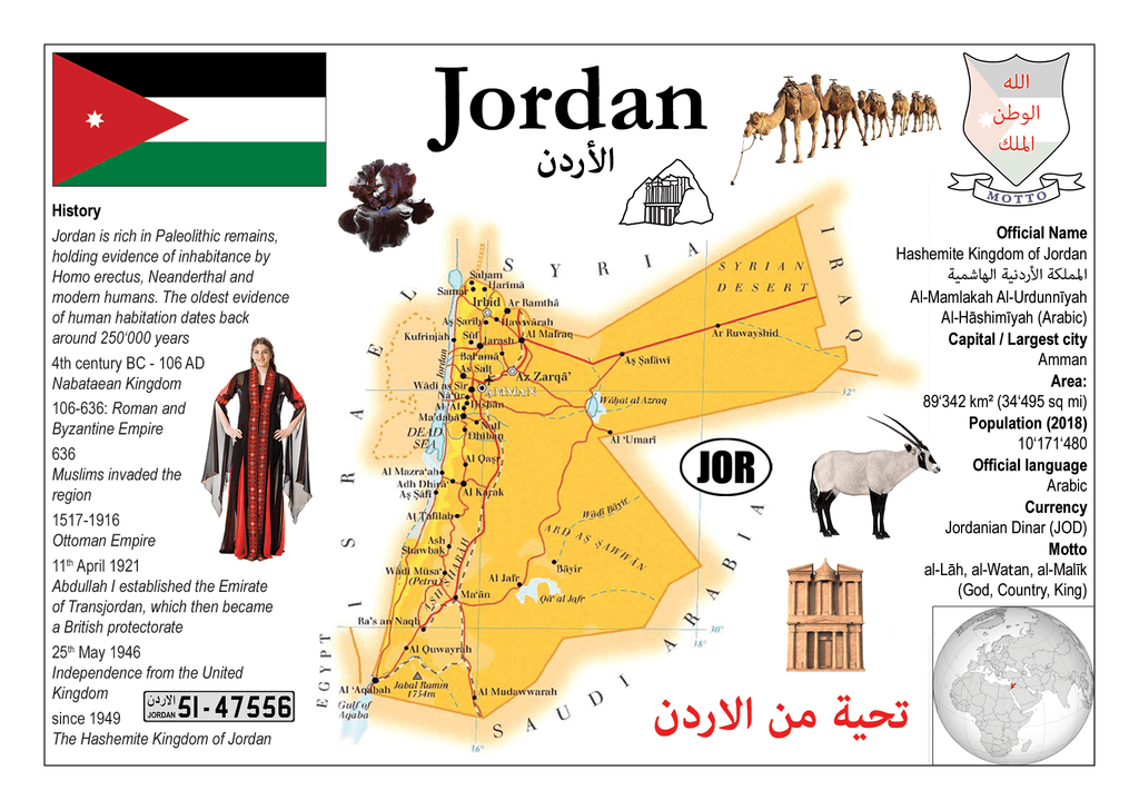 Asia | Jordan MOTW - top quality approved by www.postcardsmarket.com specialists