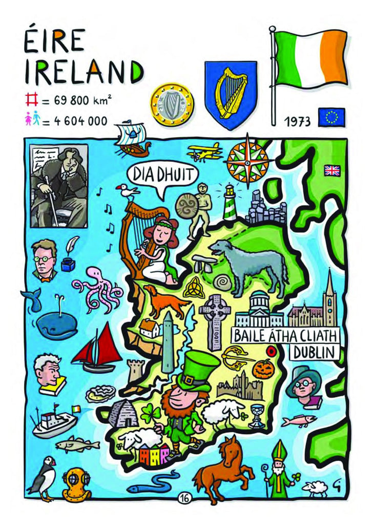 EU - United in Diversity - Eire_11 - top quality approved by www.postcardsmarket.com specialists