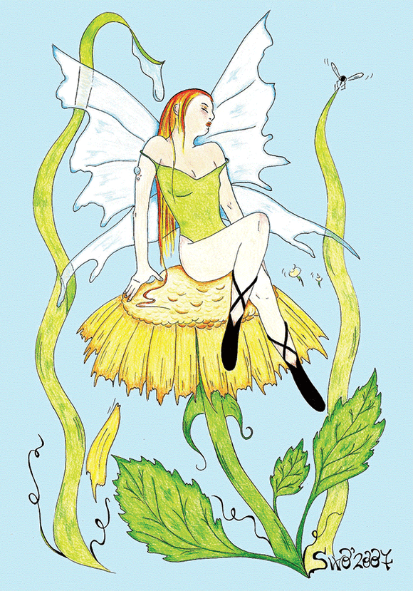 Drawings: 5 x MELISSA Fairy - Postcards Market