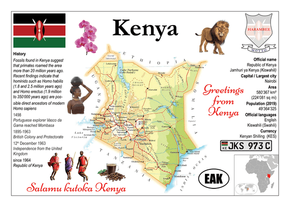 AFRICA | Kenya MOTW - top quality approved by www.postcardsmarket.com specialists