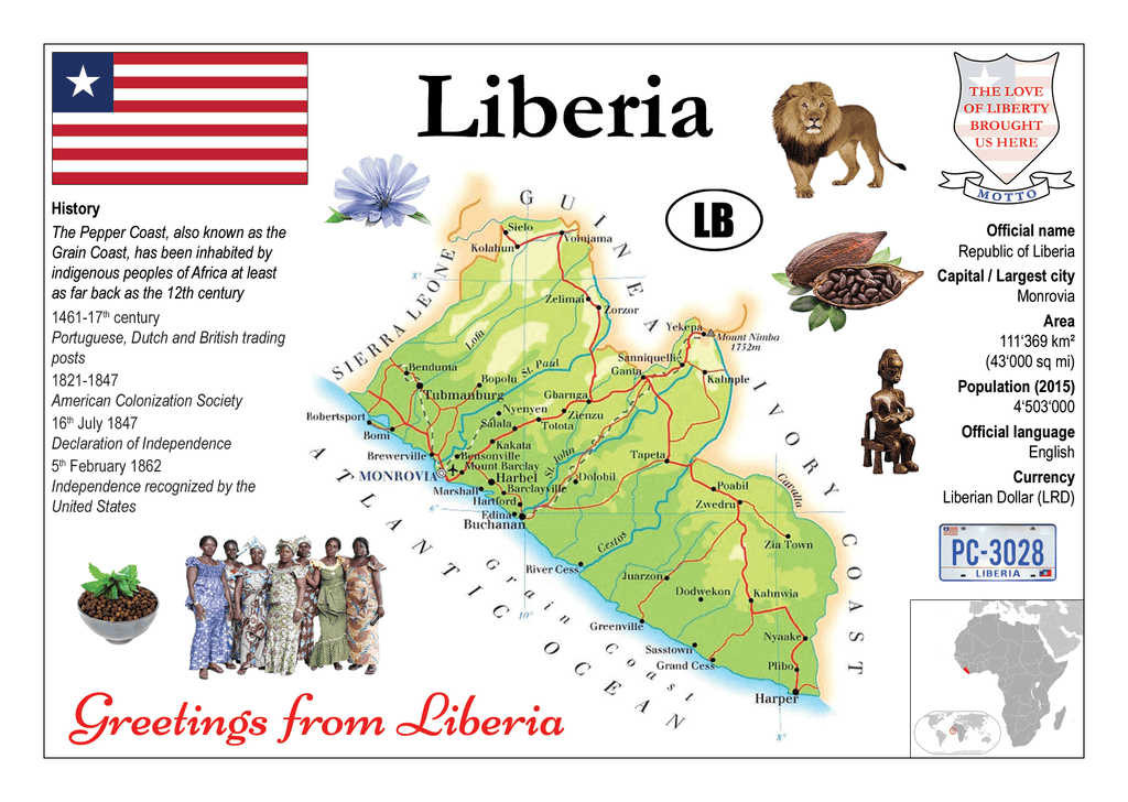 AFRICA | Liberia MOTW - top quality approved by www.postcardsmarket.com specialists