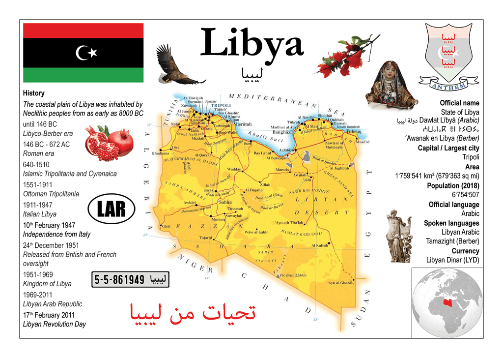 AFRICA | Libya MOTW - top quality approved by www.postcardsmarket.com specialists
