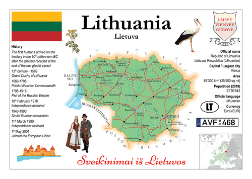 Europe | Lithuania MOTW - top quality approved by www.postcardsmarket.com specialists
