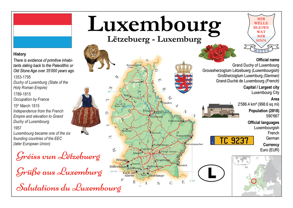 Luxembourg MOTW - top quality approved by www.postcardsmarket.com specialists