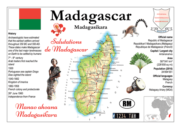 AFRICA | Madagascar MOTW - top quality approved by www.postcardsmarket.com specialists