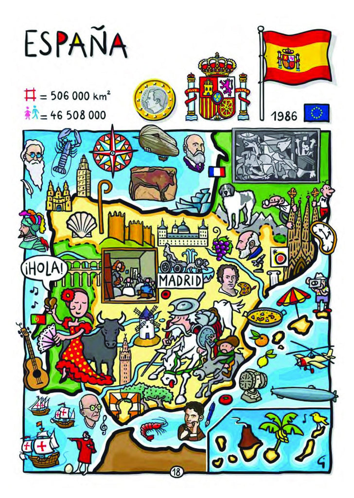 EU - United in Diversity - Espana_13 - top quality approved by www.postcardsmarket.com specialists
