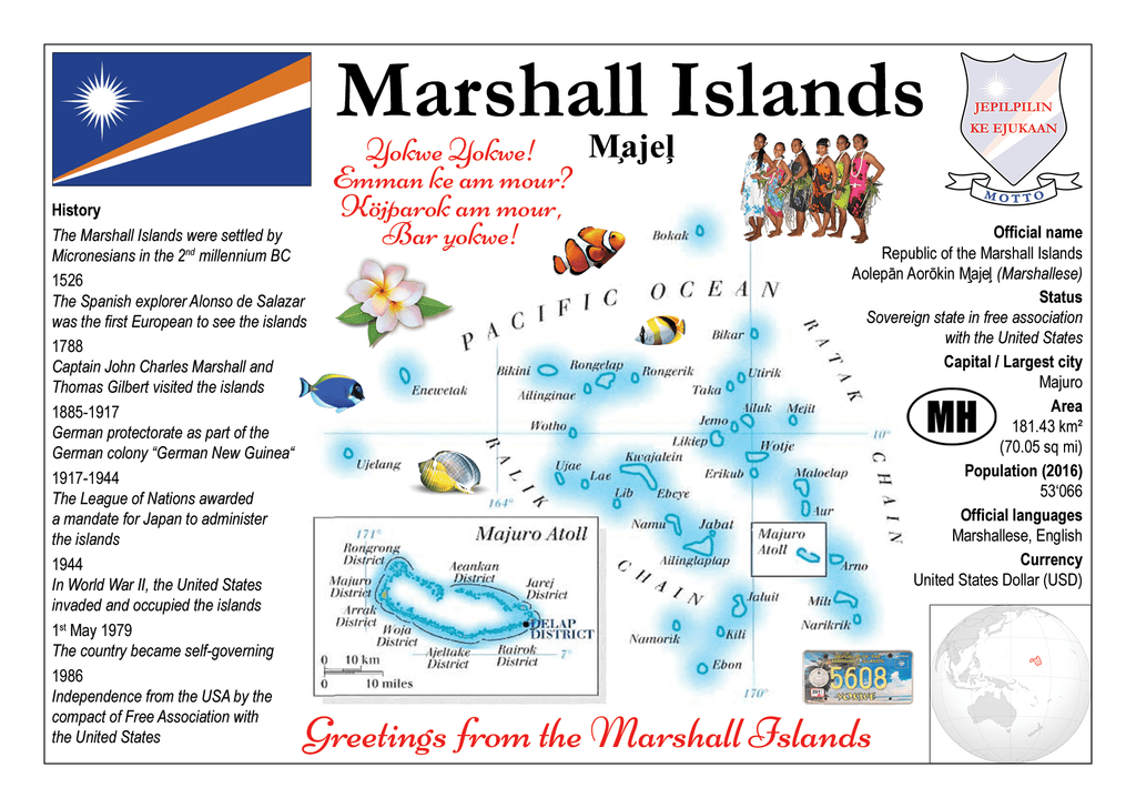 Oceania | Marshall Islands MOTW - top quality approved by www.postcardsmarket.com specialists