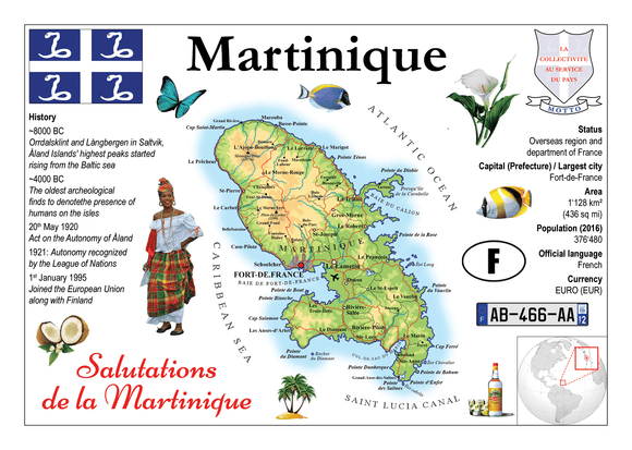 North America | Martinique MOTW - top quality approved by www.postcardsmarket.com specialists