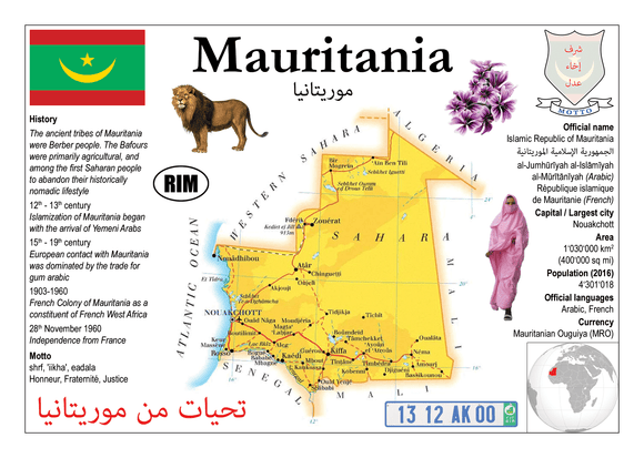 AFRICA | Mauritania MOTW - top quality approved by www.postcardsmarket.com specialists