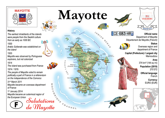 AFRICA | Mayotte MOTW - top quality approved by www.postcardsmarket.com specialists