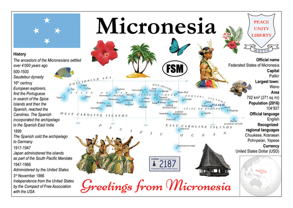 Oceania | Micronesia MOTW - top quality approved by www.postcardsmarket.com specialists