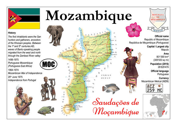 AFRICA | Mozambique MOTW - top quality approved by www.postcardsmarket.com specialists