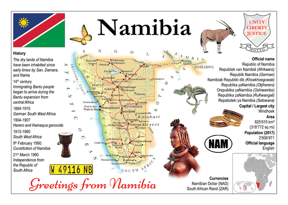 AFRICA | Namibia MOTW - top quality approved by www.postcardsmarket.com specialists