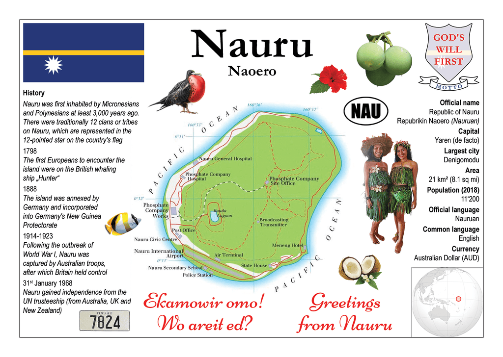 Nauru MOTW - top quality approved by www.postcardsmarket.com specialists
