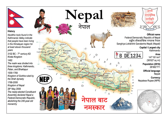 Asia | Nepal MOTW - top quality approved by www.postcardsmarket.com specialists