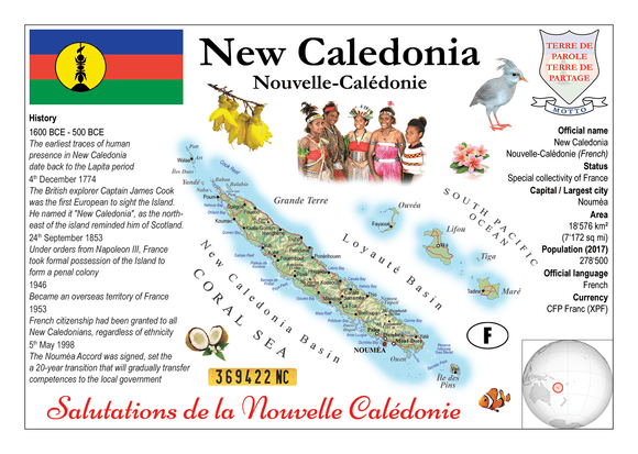 Oceania | New Caledonia MOTW - top quality approved by www.postcardsmarket.com specialists